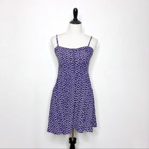 Express Dotted Button Bodice A Line Sundress